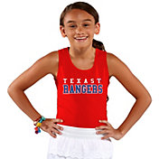 Soft As A Grape Youth Girls' Texas Rangers Red Tank Top