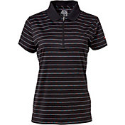 Slazenger Women's Luminescent Collection Space Dye Stripe Golf Polo