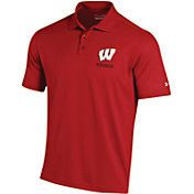 Under Armour Men's Wisconsin Badgers Red Performance Polo