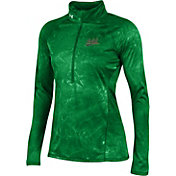 Under Armour Women's Notre Dame Fighting Irish Green Fusion UA Tech Half-Zip Shirt