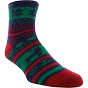 Yaktrax Women's Cozy Cabin Fairisle Crew Socks