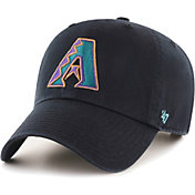 '47 Men's Arizona Diamondbacks Clean Up Cooperstown Black Adjustable Hat