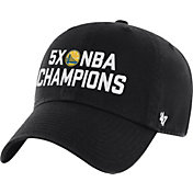 "'47 Men's 2017 NBA Champions Golden State Warriors Clean-Up ""5x Champs"" Black Adjustable Hat"