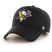 '47 Men's Pittsburgh Penguins MVP Black Structured Adjustable Hat