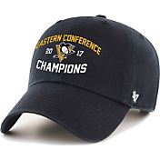 '47 Brand Men's 2017 NHL Eastern Conference Champions Pittsburgh Penguins Clean Up Adjustable Hat