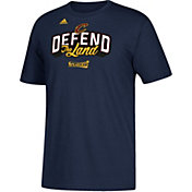 "adidas Men's Cleveland Cavaliers 2017 NBA Playoffs ""Defend The Land"" Navy T-Shirt"
