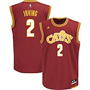 adidas Men's Cleveland Cavaliers Kyrie Irving #2 Stretch Burgundy Replica Jersey