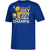 "adidas Men's 2017 NBA Champions Golden State Warriors ""The Bay's Day"" Parade Royal T-Shirt"