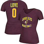 adidas Women's Cleveland Cavaliers Kevin Love #0 Burgundy V-Neck T-Shirt