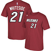 adidas Youth Miami Heat Hassan Whiteside #21 Burgundy T-Shirt
