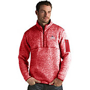 Antigua Men's Los Angeles Clippers Fortune Red Half-Zip Pullover