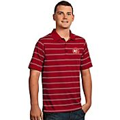 Antigua Men's Atlanta Hawks Deluxe Red Striped Performance Polo