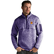Antigua Men's Los Angeles Lakers Fortune Purple Half-Zip Pullover
