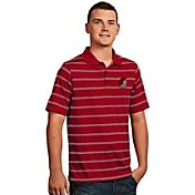 Antigua Men's Portland Trail Blazers Deluxe Red Striped Performance Polo