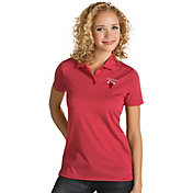 Antigua Women's Chicago Bulls Xtra-Lite Red Quest Performance Polo