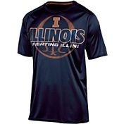 Champion Men's Illinois Fighting Illini Blue Impact Basketball T-Shirt