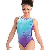 GK Elite Youth Laurie Hernandez Whirl of Wonder Gymnastics Leotard