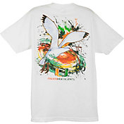 Guy Harvey Men's Miami Hurricanes White T-Shirt