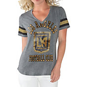 G-III For Her Women's Los Angeles FC Triple Play Grey T-Shirt