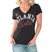 G-III For Her Women's Atlanta United Homefield Black Slub T-Shirt