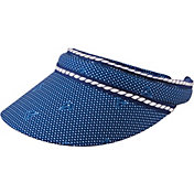 Lady Hagen Women's Bon Voyage Collection Nautical Sail Print Golf Visor