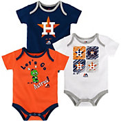 Majestic Infant Houston Astros 3-Piece Onesie Set
