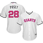 Majestic Men's Replica San Francisco Giants Buster Posey #28 2017 Mother's Day Cool Base Jersey