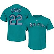 Majestic Men's Seattle Mariners Robinson Cano #22 Teal T-Shirt