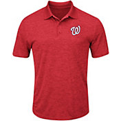 Majestic Men's Washington Nationals Cool Base Red Polo