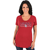 Majestic Women's St. Louis Cardinals Red Scoop Neck T-Shirt