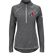 Majestic Women's Arizona Diamondbacks Cool Base Grey Half-Zip Pullover