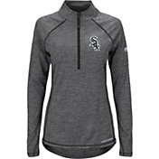 Majestic Women's Chicago White Sox Cool Base Grey Half-Zip Pullover