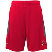 Majestic Youth St. Louis Cardinals Cool Base Rally Red Performance Shorts