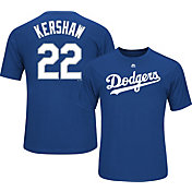 Majestic Youth Los Angeles Dodgers Clayton Kershaw #22 Royal Performance T-Shirt