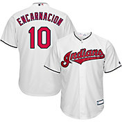 Majestic Youth Replica Cleveland Indians Edwin Encarnacion #10 Cool Base Home White Jersey