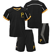 Majestic Boys' Pittsburgh Pirates Cool Base Legacy Shorts & Top Set