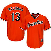 Majestic Youth Replica Baltimore Orioles Manny Machado #13 Cool Base Cooperstown Orange Jersey