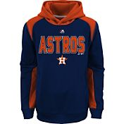 Majestic Youth Houston Astros Therma Base Geo Fuse Navy Hooded Fleece