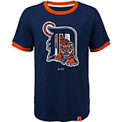 Majestic Youth Detroit Tigers Ringer Navy T-Shirt