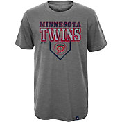 Majestic Youth Minnesota Twins Heirloom Grey T-Shirt