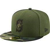 New Era Men's Seattle Mariners 59Fifty 2017 Memorial Day Camo Authentic Hat