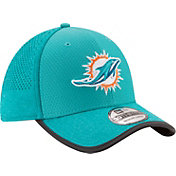 New Era Men's Miami Dolphins 2017 Training Camp 39Thirty Aqua Flex Hat