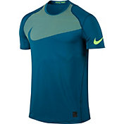 Nike Men's Pro Cool Knurling Swoosh Fitted T-Shirt