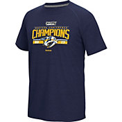 Reebok Men's 2017 NHL Western Conference Champions Nashville Predators Navy T-Shirt