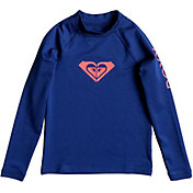 Roxy Little Girls' Whole Hearted Long Sleeve Rash Guard