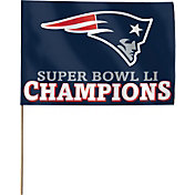 WinCraft Super Bowl LI Champions New England Patriots Stick Flag