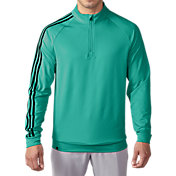 adidas Men's 3-Stripes Quarter-Zip Golf Pullover