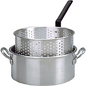 King Kooker 10 Quart Aluminum Deep Fryer Pan with Handles and Basket