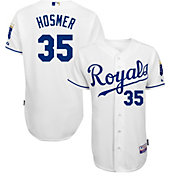 Majestic Men's Authentic Kansas City Royals Eric Hosmer #35 Cool Base Home White On-Field Jersey