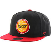 '47 Men's Houston Rockets Sure Shot Black 2-Tone Adjustable Snapback Hat